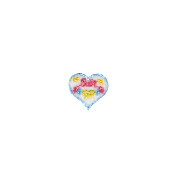 Baby with Tiny Hearts Applique Blue