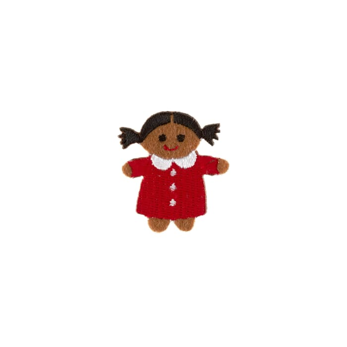 Little Doll Applique Red