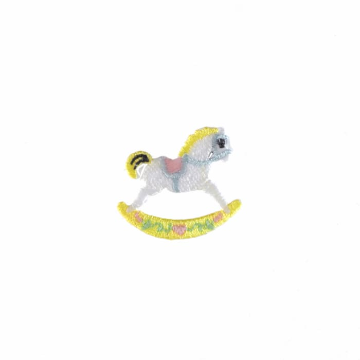 Hobby Horse Applique Pink
