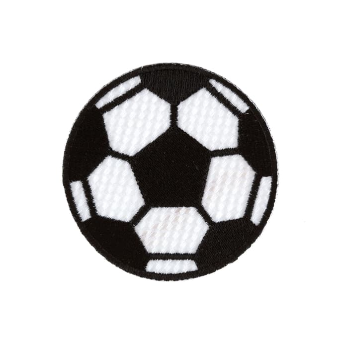 Soccer Ball Large Applique Black/White