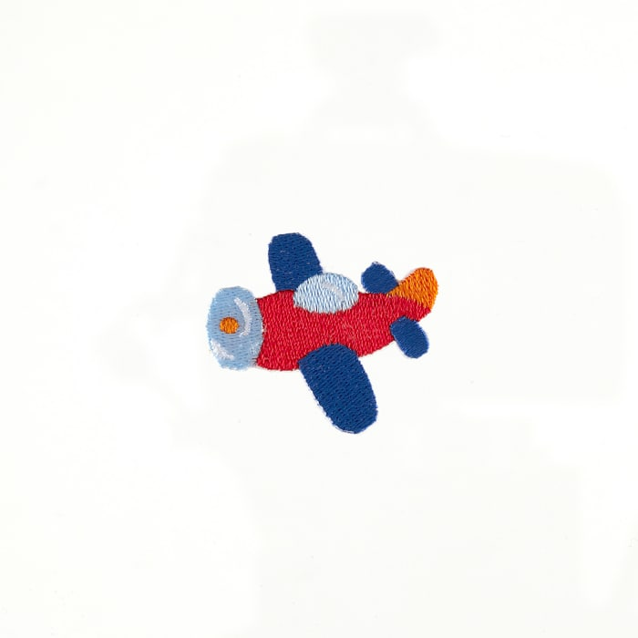 Plane Applique Red