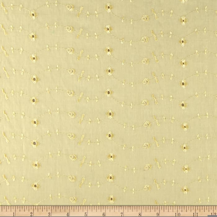 Eyelet Allover Yellow