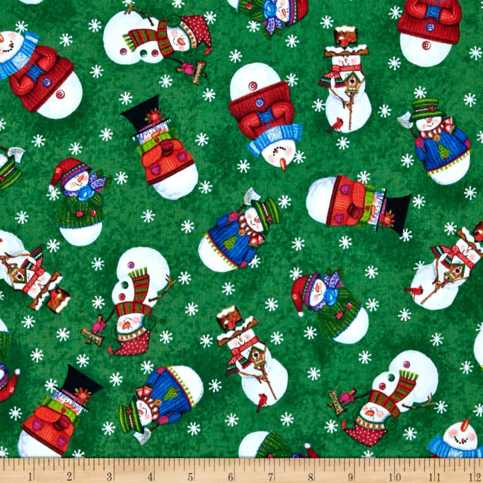 Snow Friends Snowman Toss Forest Green
