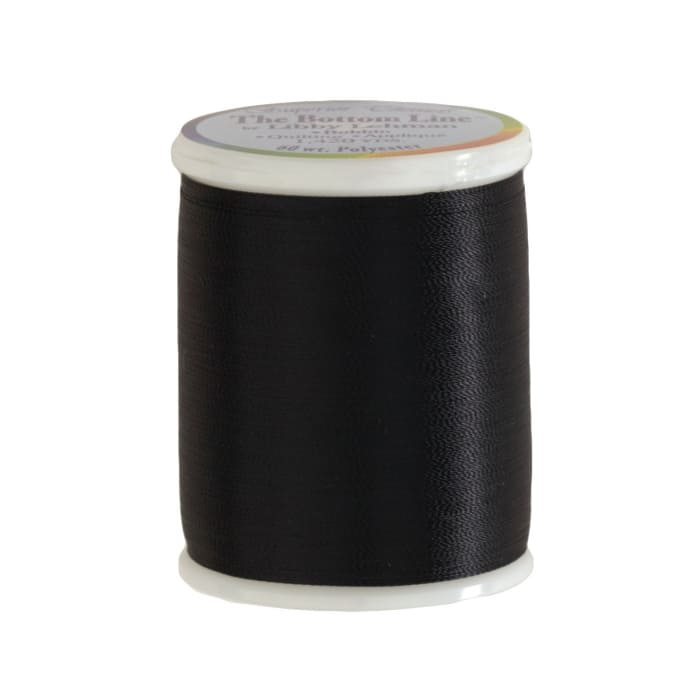 Superior Bottom Line Polyester Thread 60wt 1420yds Black