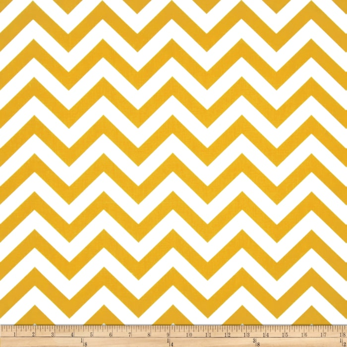 Premier Prints Indoor/Outdoor Zig Zag Citrus Yellow