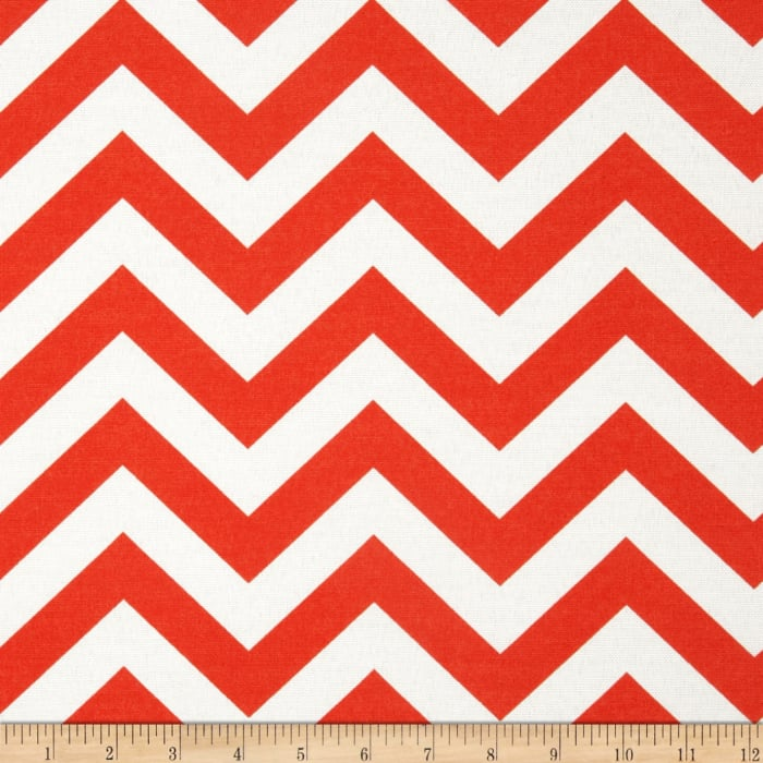 Premier Prints Indoor/Outdoor Zig Zag Salmon