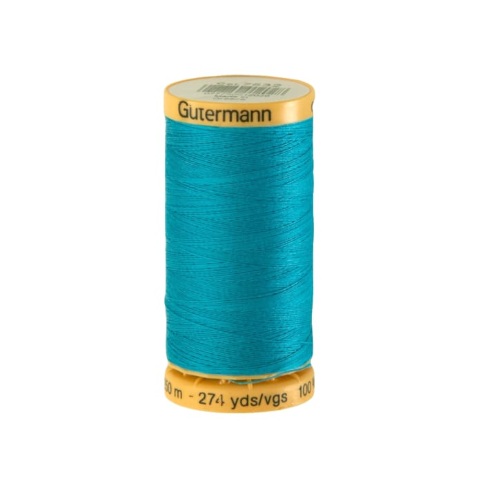 Gutermann Natural Cotton Thread 250m/273yds Turquoise