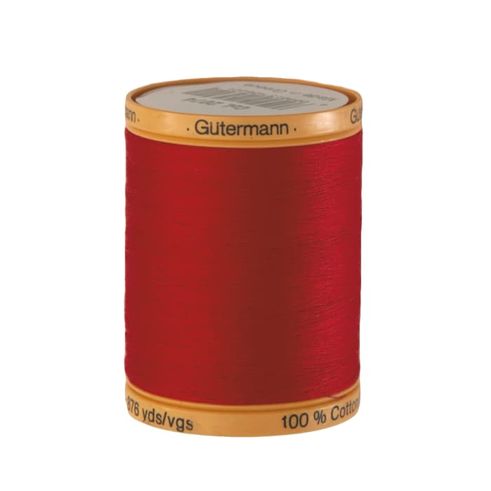 Gutermann Natural Cotton Thread 800m/875yds Red