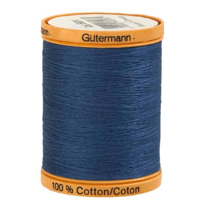 Gutermann Natural Cotton Thread 800m/875yds Indigo Blue