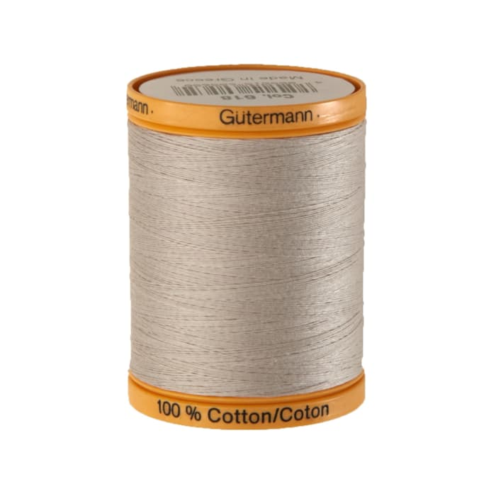 Gutermann Natural Cotton Thread 800m/875yds Sandy Grey