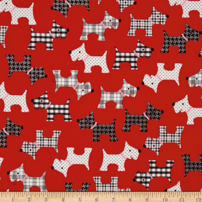 Whiskers & Tails Scotty Dogs Red