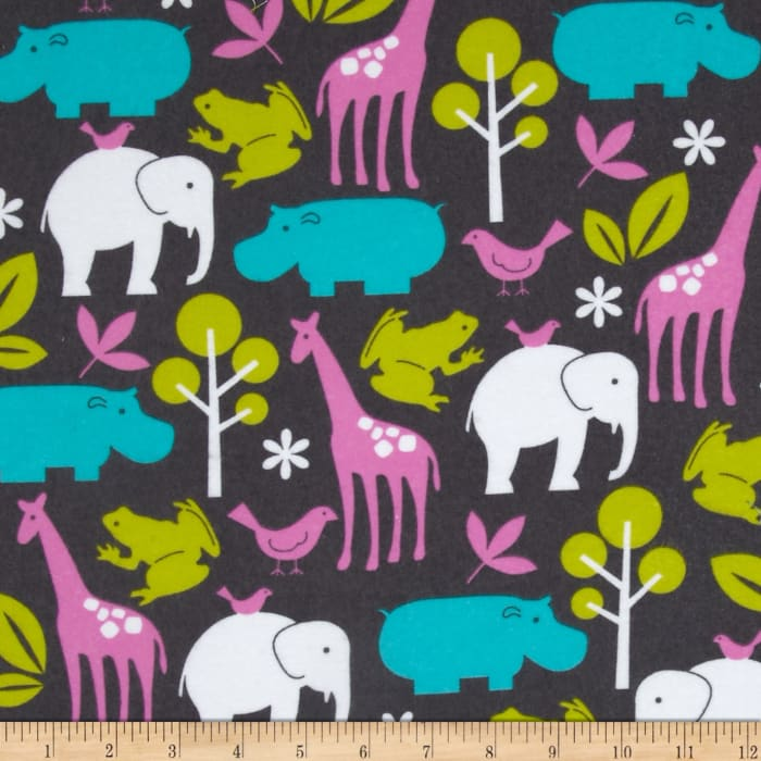 Michael Miller Flannel Zoology Orchid