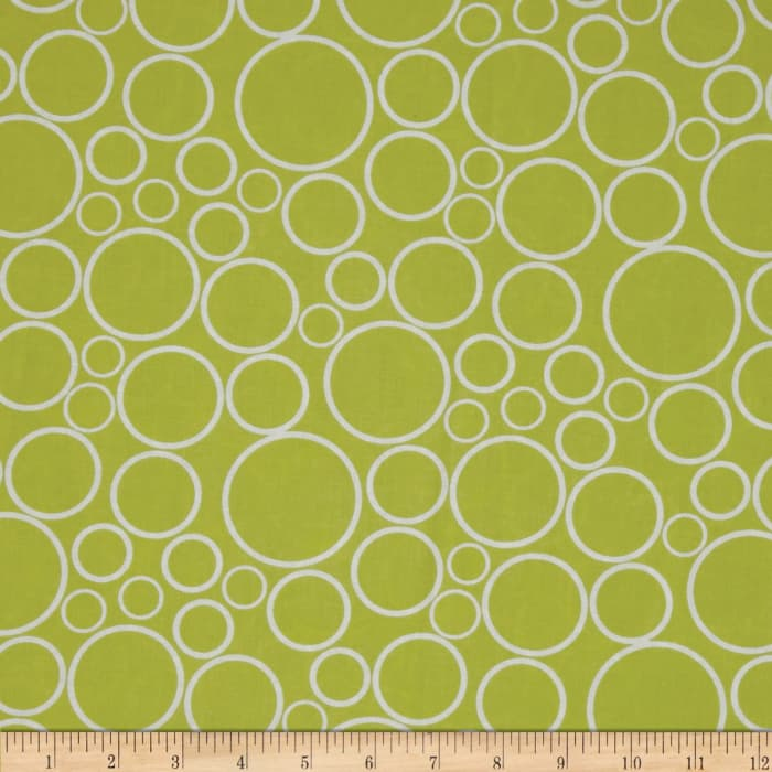 """108"""" Wide Geo Circles Wide Chartreuse"""