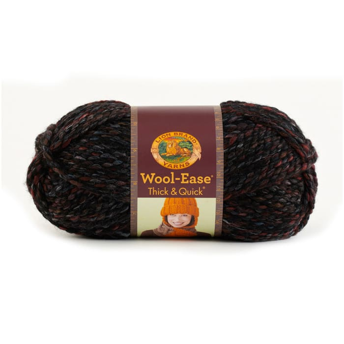 Lion Brand Wool-Ease Thick & Quick Yarn Blackstone