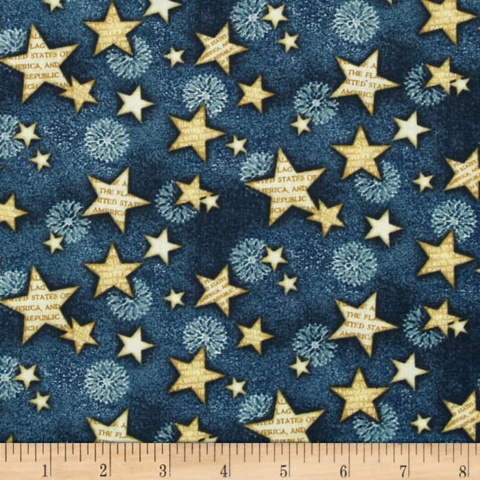 Star Spangled Bandana Stars Navy
