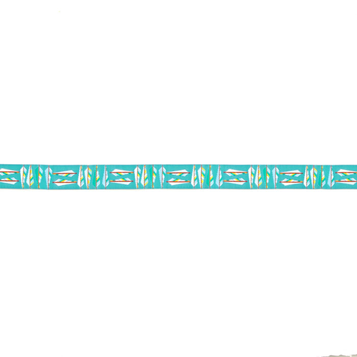 "5/8"" Anna Maria Horner Arrow Feathers Ribbon Teal"