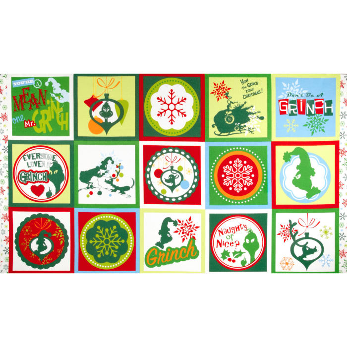 How The Grinch Stole Christmas Flannel 3 Block