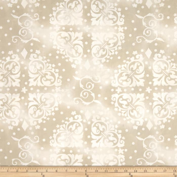 """108"""" Wide Quilt Backing Medallion Tonal Tan"""