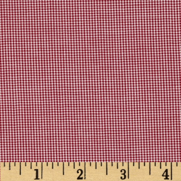 "Imperial 1/32"" Micro Check Burgundy"