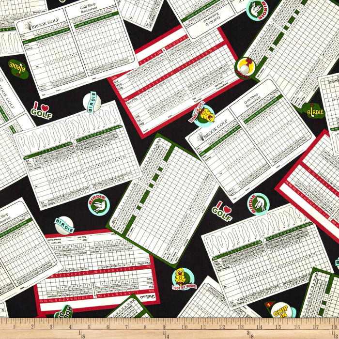 Hole in One Score Cards Black