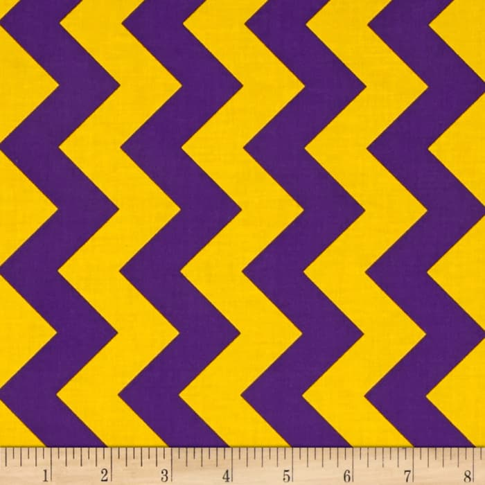 Riley Blake Medium Chevron Purple/Gold