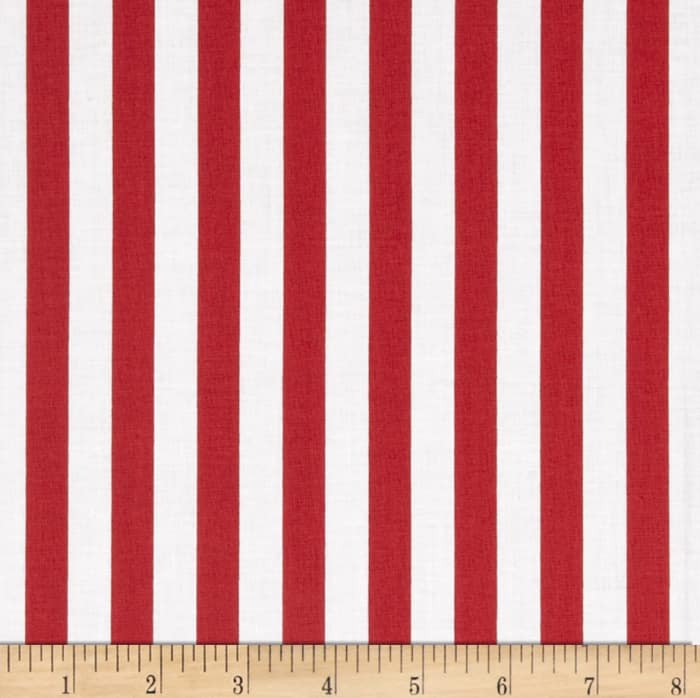 "Riley Blake 1/2"" Stripe Red"