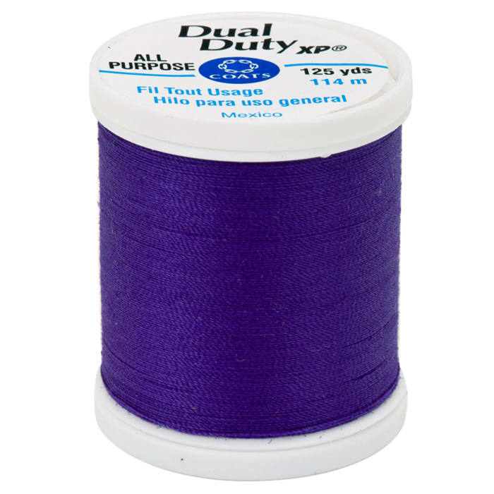 Coats & Clark Dual Duty XP 125yd Bright Deep Purple
