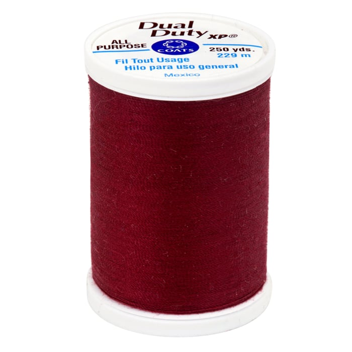 Coats & Clark Dual Duty XP 250yd Barberry Red