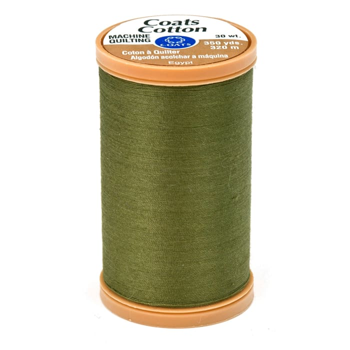 Coats & Clark Machine Quilting Cotton Thread 350 yd. Bronze Green