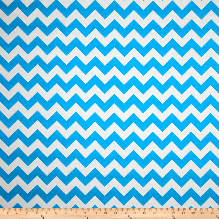 Riley Blake Chevron Neon Blue