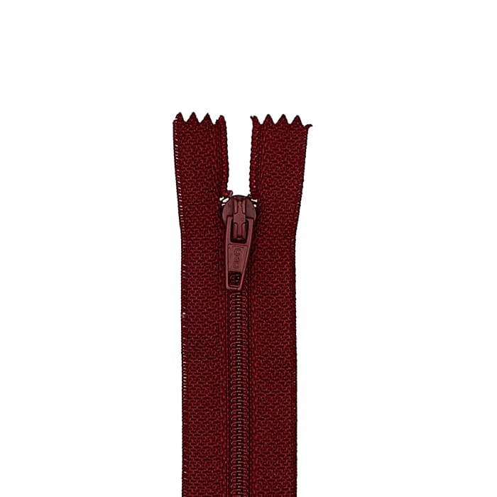 """Coats & Clark Poly All Purpose Zipper 16"""" Barberry Red"""
