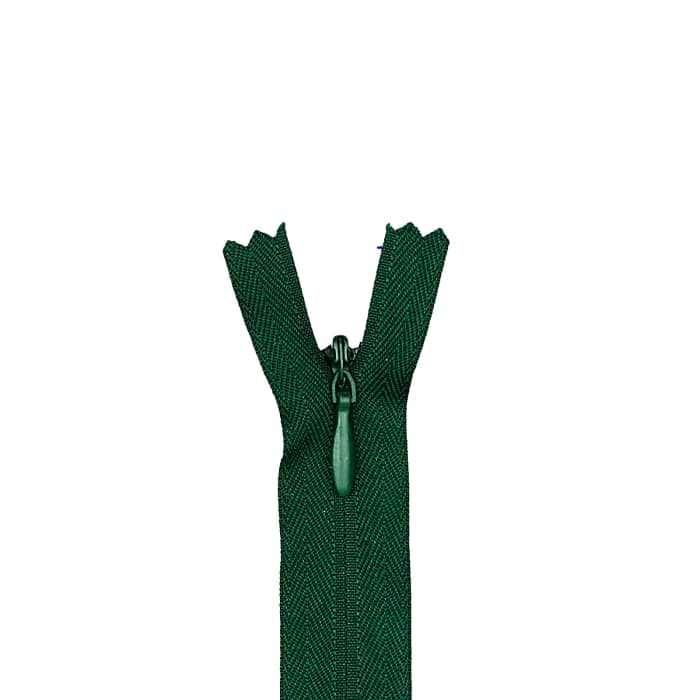 "Coats & Clark Poly Invisible Zipper 12-14"" Forest Green"