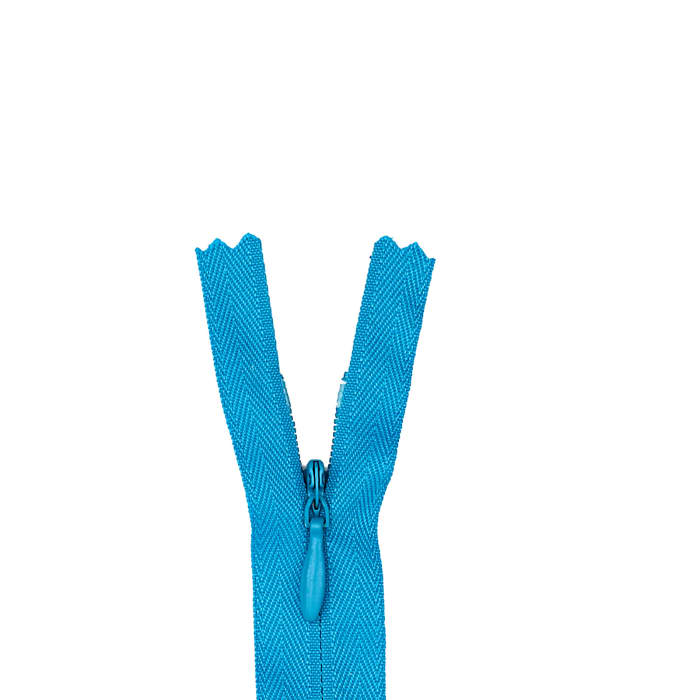 """Poly Invisible Zipper 20-22"""" Rocket Blue"""