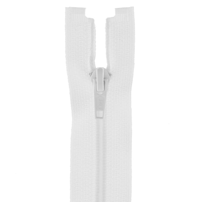"Coats & Clark Coil Separating Zipper 12"" White"