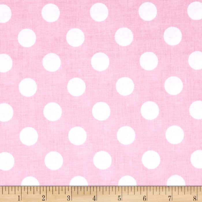 Riley Blake Medium Dots Baby Pink