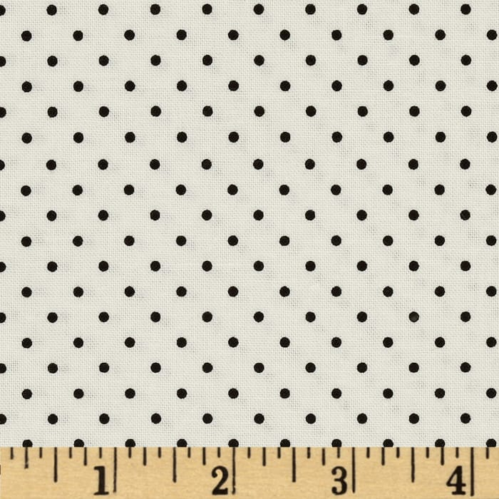 Riley Blake La Creme Basics Swiss Dots Black