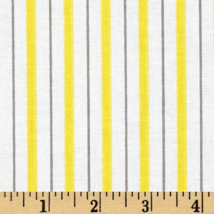 Riley Blake Evening Blooms Stripe Yellow