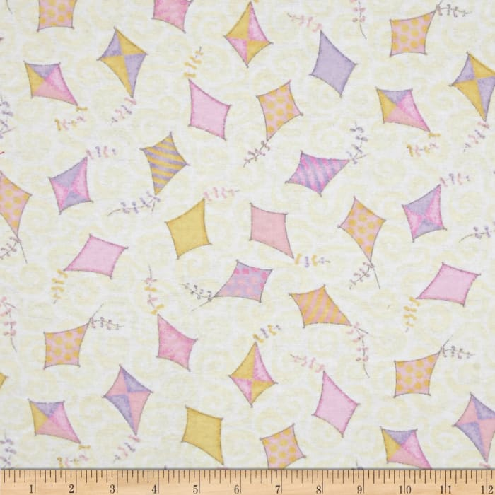 Play Day Flannel Kites Pink