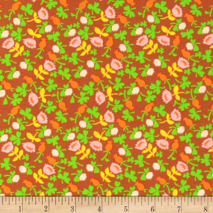 Heather Ross Briar Rose Calico Brown