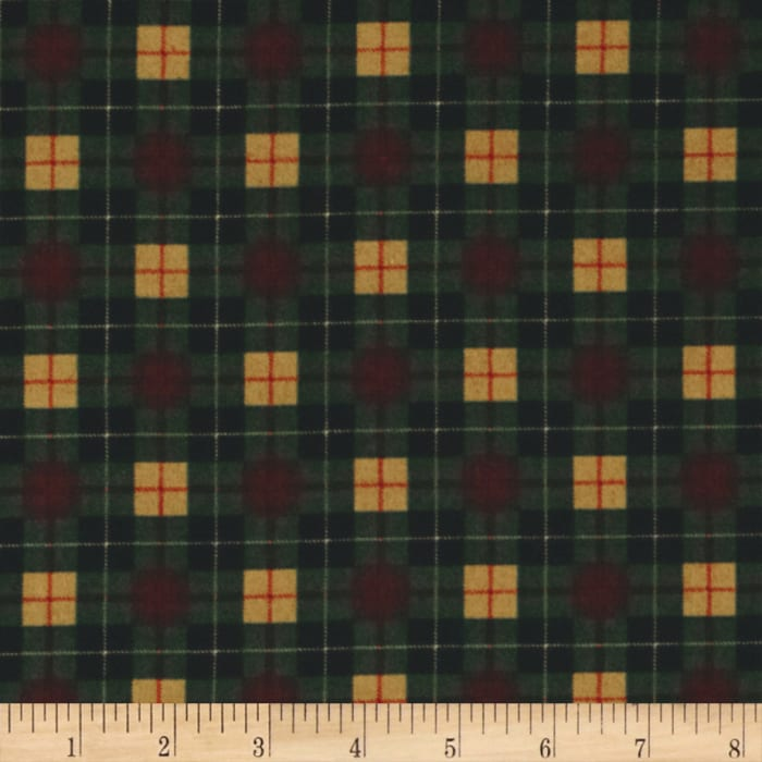 Timeless Treasures Cabin Flannel Plaid Pine