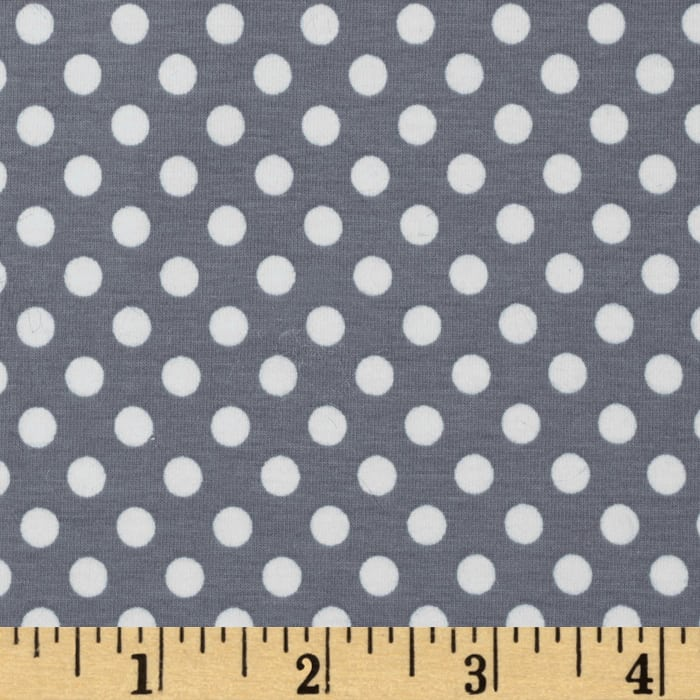 Riley Blake Knit Small Dots Gray