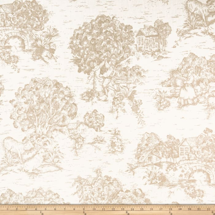 Pastoral Toile Ivory/Tan
