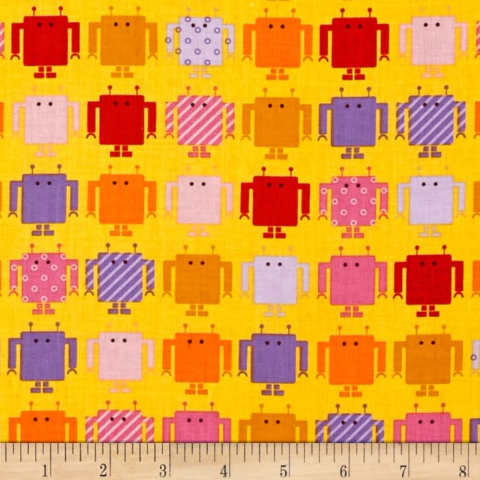 Funbots Small Robots Spring Yellow