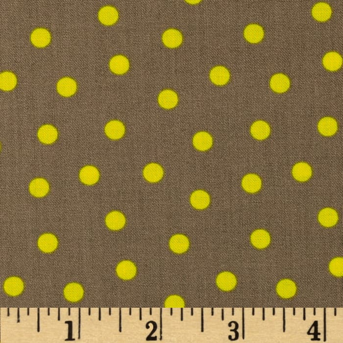 Bright Now Do the Polka Brown/Yellow