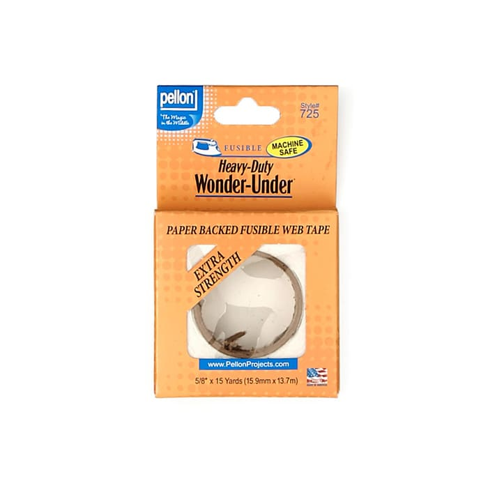 Pellon Heavy-Duty Wonder-Under - Paper-backed fusible web w/ double adhesive