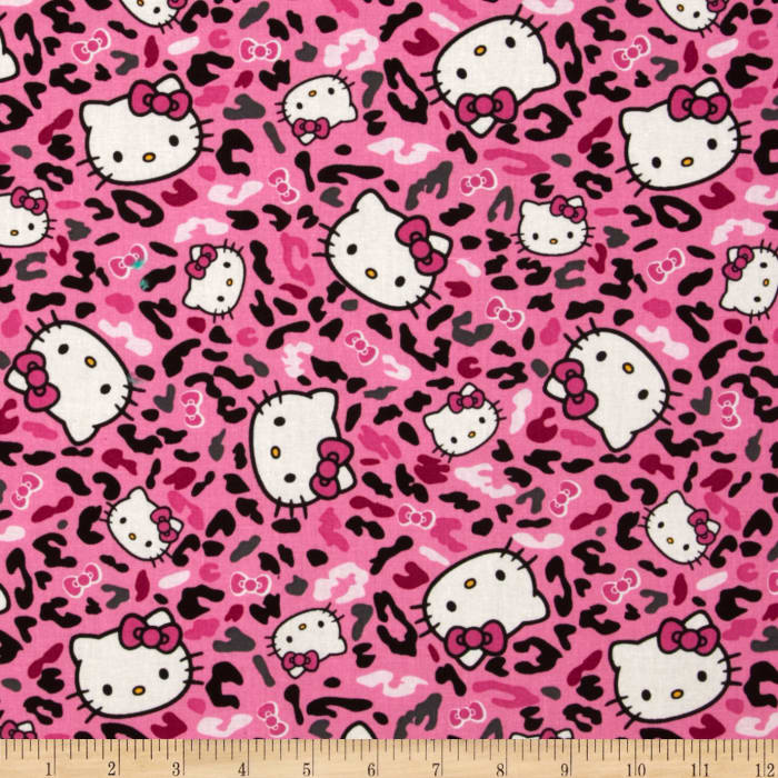 Hello Kitty Cheetah Toss Kitty Pink