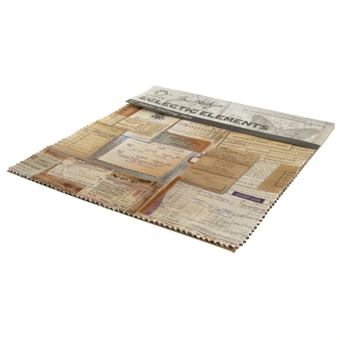 """Tim Holtz Eclectic Elements Documentation 12"""" Fabric Craft Pack"""