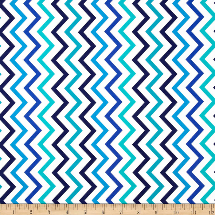 Michael Miller Mini Chic Chevron Marine