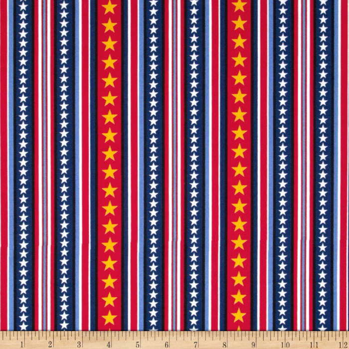 Peanuts Hugs for Heroes Star Stripe Red/Navy