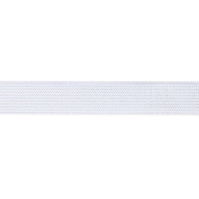 3/4'' Knit Non-Roll Elastic White
